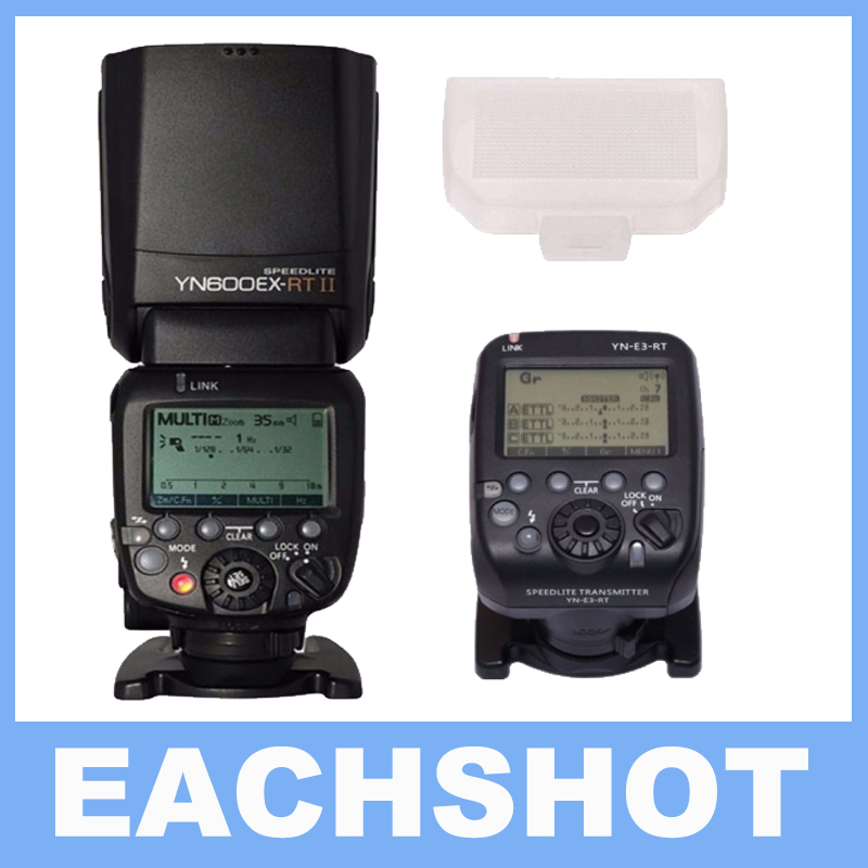 YONGNUO YN600EX-RT II Wireless Flash Speedlite with Optical Master and TTL HSS for Canon AS For Canon 600EX-RT updated yongnuo yn600ex rt ii auto ttl hss flash speedlite yn e3 rt controller for canon 5d3 5d2 7d mark ii 6d 70d 60d 650d