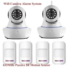 Wireless WiFi Ик Ip-камера HD 1MP CMOS Видеонаблюдения IP камера Сигнализации PT Wi-Fi и GSM SMS Сигнализация с PIR Motion датчик