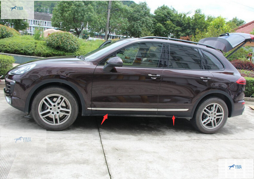 Body Side Door Molding protector Cover Trim For Porsche Cayenne 2015 / Exterior body shield body side cover black points