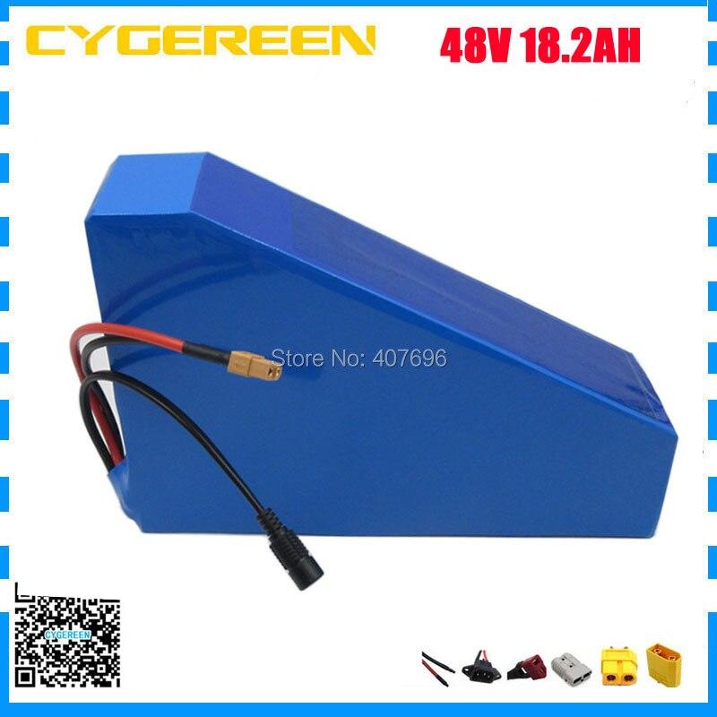 Batterie lithium-ion 48V 18.2AH batterie Triangle 48V 18AH batterie utilisation 3.7V 2600mah cellule 30A BMS avec sac gratuit 2A chargeur