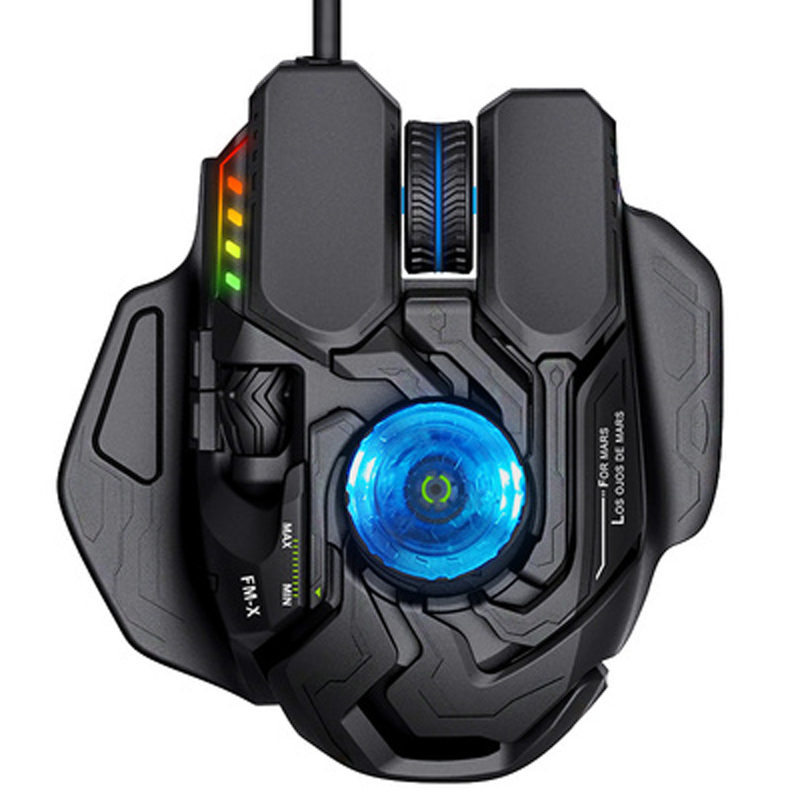 NEW USB2.0 5000DPI Wired E-sports Game Programmable Ergonomics Setting Mouse DPI Adjustable For PC CF LOL Eat Chicken