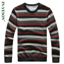 New Arrival IN-YESON Brand Clothing Men Pullovers O-Neck Striped Slim Fit Woolen Sweaters Men Casual Casual Knitted Sweater