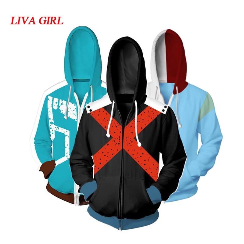 My Hero Academia Boku no Hero Academia Cosplay Costumes Midoriya Izuku Bakugou Katsuki Todoroki Sweatshirt Hoodie Jackets Coat