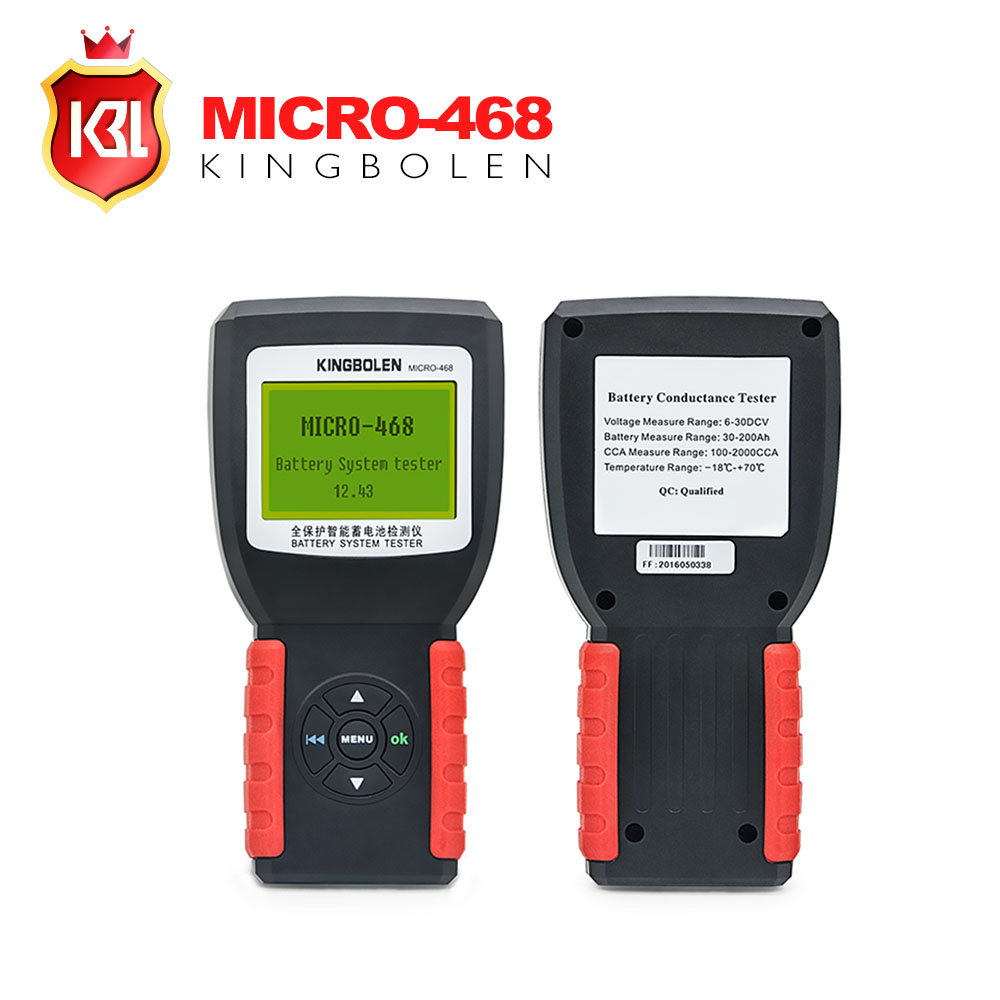 KINGBOLEN MICRO 468 Car Battery System Tester for 12v 24v system Multi language micro 468 for