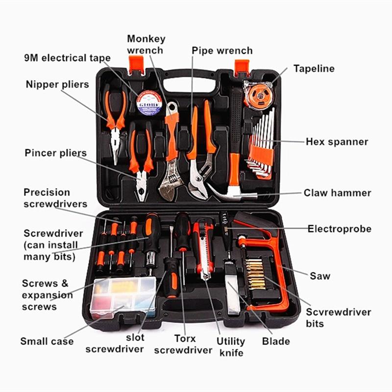 famiglia 100pcs strumenti combinati toolbox hardware multifunzione - Set di attrezzi - Fotografia 6