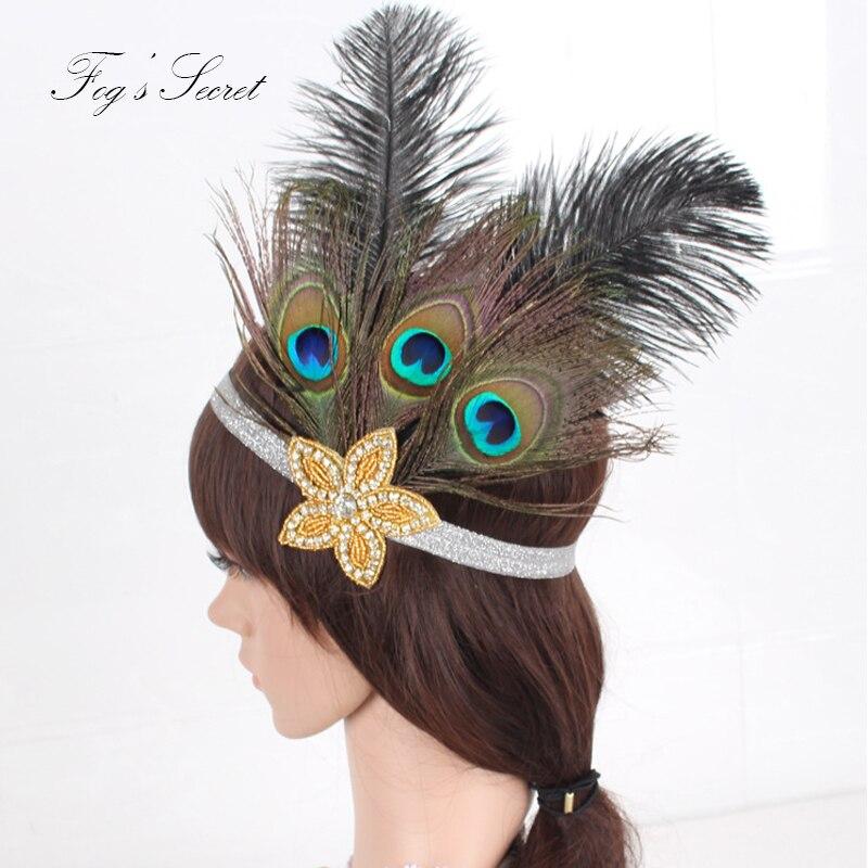 Indian Wedding Headdress: Indian Bohemian Style Headband For Women Peacock Feather