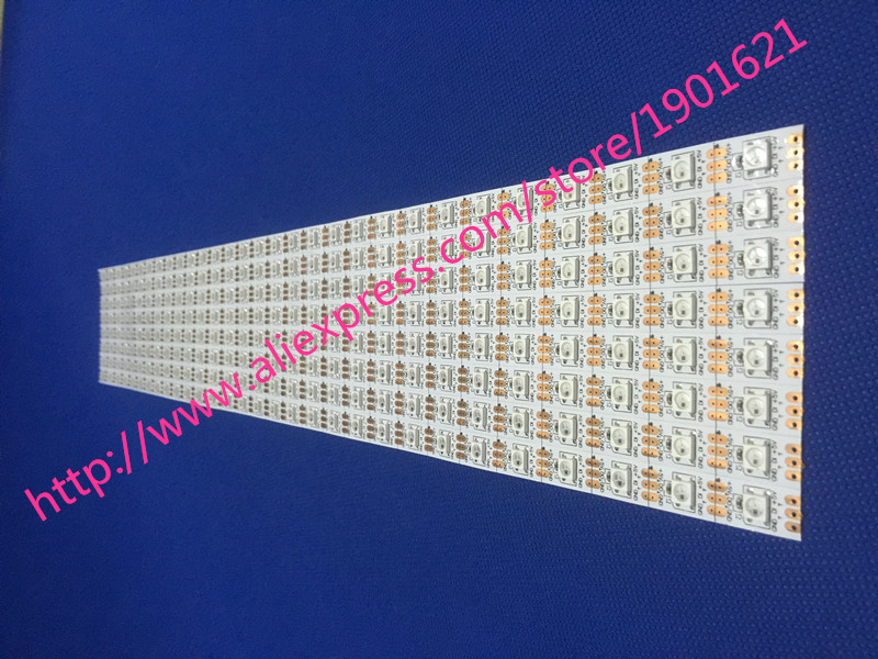 1m / 4m / 5m WS2812B Smart RGB LED Pixel Strip Svart / vit PCB 30/60 - LED-belysning - Foto 6
