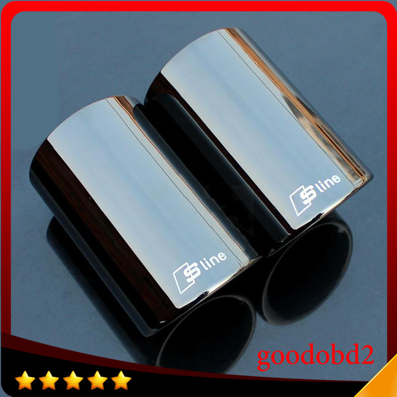 Rline Tail Throat Exhaust Pipe For Audi A1 A3 A4L A5 A6L Q3 Q5 tail pipe Car exhaust pipe cover muffler tip auto accessories