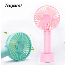 Mini Fan 3350mAh Wiederaufladbare USB Fan Tragbare Handheld Fan 3-Speed Mini USB Handliche Kleine Desktop Flexible Tragbare durable(China)
