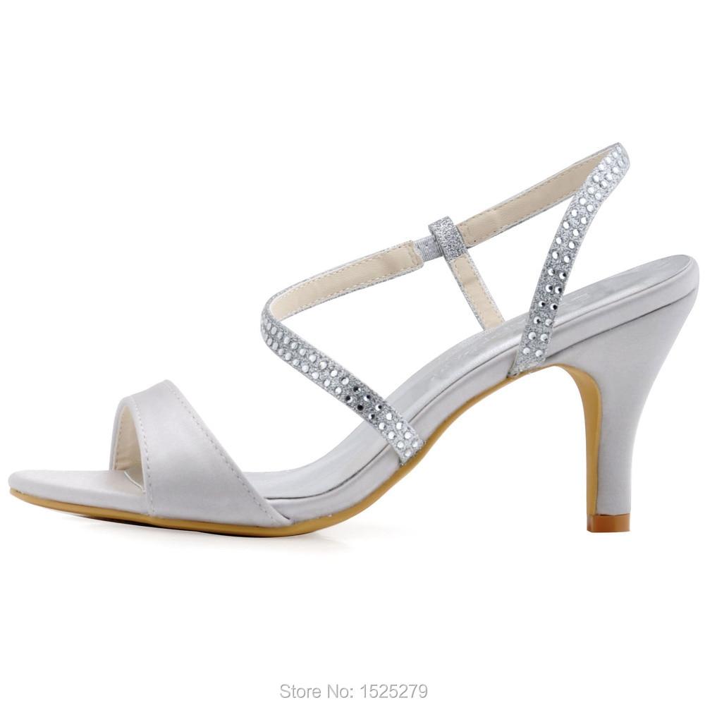Dames À Ouvert Hauts De Chaussures Demoiselles Bout Sandales Femmes Soirée Argent D'été D'honneur Glitter Mariée Mariage Robe Nuptiale Hp1531 Talons 4BKFtgw