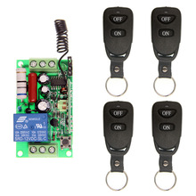 Wireless RF Remote Control Light Switch 10A Relay Output Radio AC 220V 110V 1 CH Channel 1CH Receiver Module +Transmitter nice uting ce fcc industrial wireless radio double speed f21 4d remote control 1 transmitter 1 receiver for crane