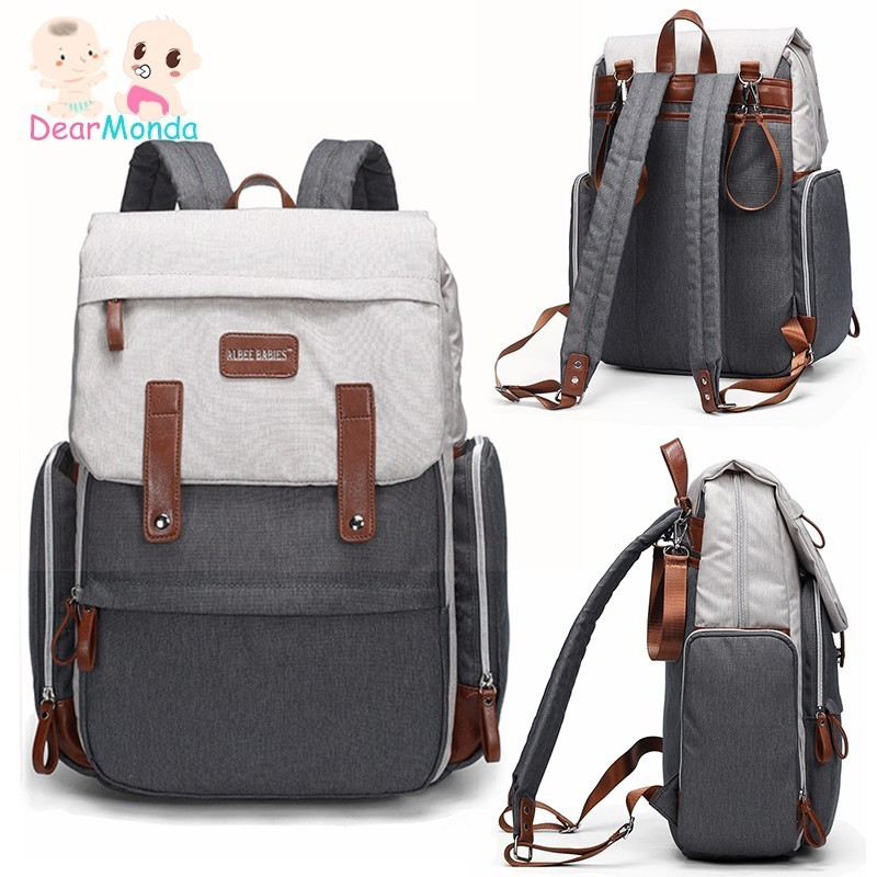 DEARMONDA 2019 Multifunctional Large Capacity Diaper Bag Baby Care Nappy Bag Baby Mom Outdoor Travel Backpack Baby Stroller Bag