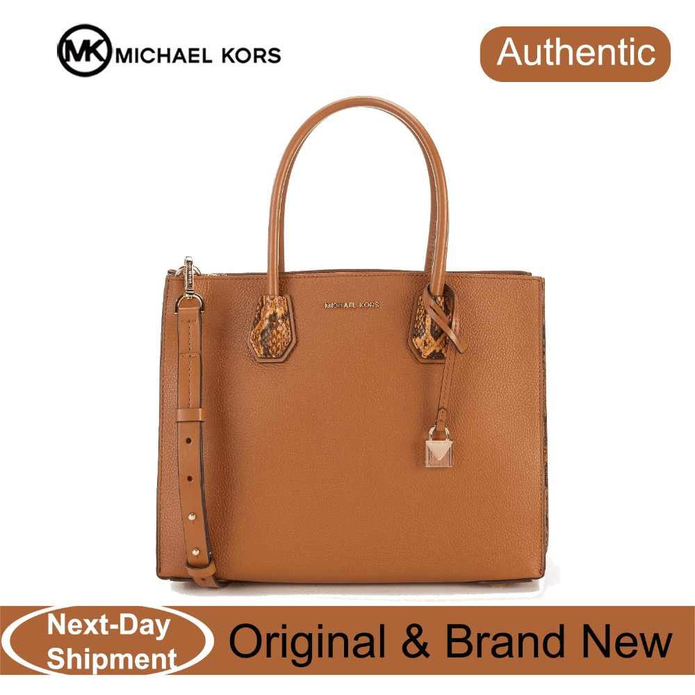 f9c88cf4dc ... about Michael Kors Large Leather Mercer Accordion Tote Bag (Acorn Gold)  Luxury Handbags For Women Bags Designer by MK on Aliexpress.com