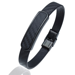 Image 3 - Мужской кожаный браслет HAWSON, браслеты из микрофибры в стиле хип хоп с застежкой из нержавеющей стали, регулируемый браслет