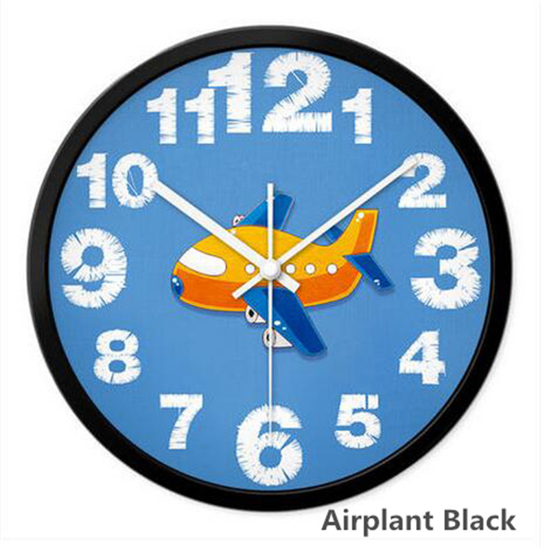 Montre numérique dessin animé horloge murale montres en métal Art horloge Design moderne décoratif décor à la maison horloge murale montre silencieuse 7DN134