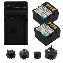 2X BN-VF707, BN-VF707U BNVF707,VF707 BN-VF714 BN-VF733 Batteries + Charger for JVC GR-D240 GZ-D240 GR-X5 GZ-MG21U