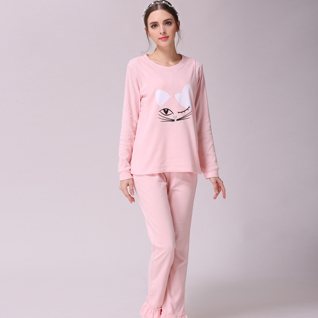 1ef38be168 Pregnancy Woman Pajamas Suit Cotton Long Sleeves Maternity Nursing Sleepwear  Set Pink Maternity Breastfeeding Clothes Suit-home