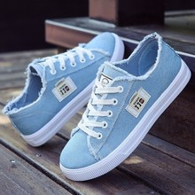 Women flats classic spring/autumn fashion denim women's
