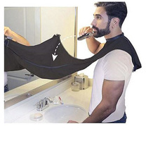 Man Bathroom Apron Black Beard Hair Shave for Waterproof Floral Cloth Household Cleaning Protecter 120x80cm