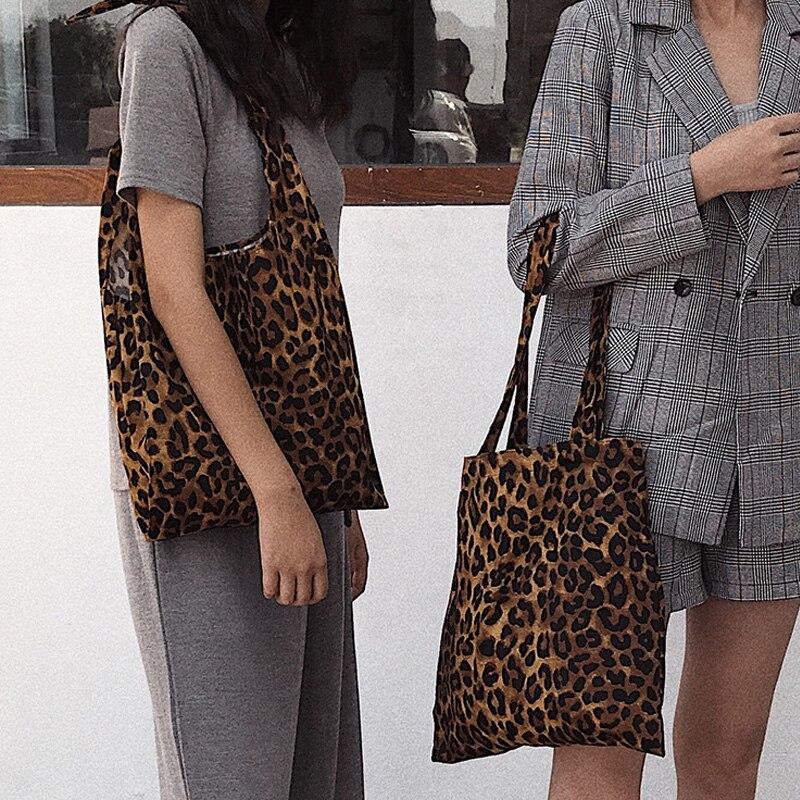 Pur Designer Leopard Sac Main Vest Toile Luxe Coton One Capacité De Imprimé  Sacs À Tie Femmes Épaule Grande ... 82477df2104e