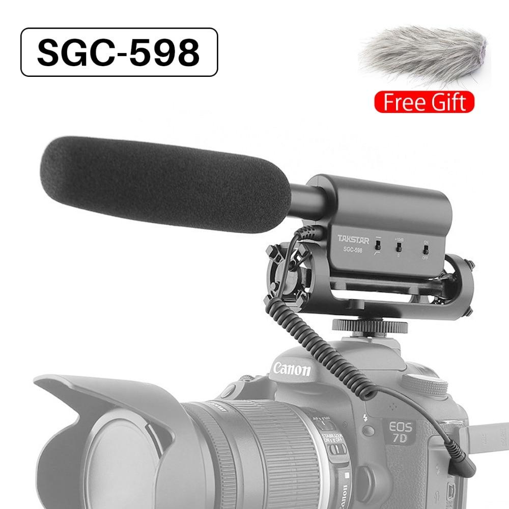 Ulanzi Original TAKSTAR SGC 598 Photography Interview Shotgun MIC Microphone for Nikon Canon DSLR Camera for