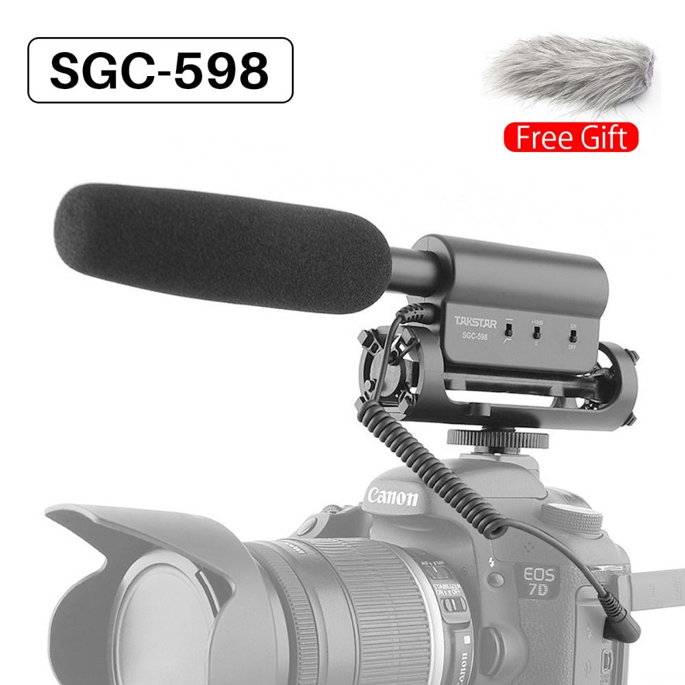 Ulanzi Original TAKSTAR SGC-598 Photography Interview Shotgun MIC Microphone for Nikon Canon DSLR Camera for Vloggers/Videomaker