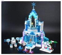 Лепин 25002 Новый 731 шт. Снежная мира серии Эльзы волшебный ледяной замок набор строительных Блоки кирпичи Игрушки Девочка с подарками 41148