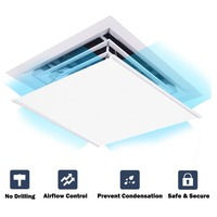 Air Deflector Adjustable Reusable Air Deflector for Ceiling Vents Home HVAC, AC and Ceiling Registers Air Conditioner Deflector