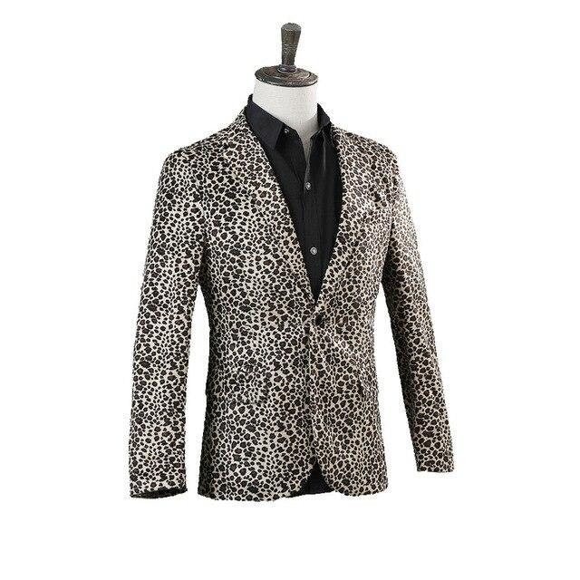 Фото костюм леопардовый для мужчин ночной клубный костюм певицы барной цена