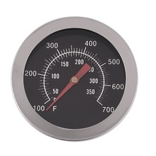 Stainless Steel BBQ Smoker Pit Grill Bimetallic thermometer Temp Gauge with Dual Gage 350 Degree Cooking Tools
