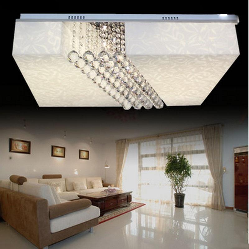 Moderne Led Deckenleuchte Kristall Lampe Wohnzimmer Schlafzimmer Lampen Rechteck Sittingroom LeuchteChina