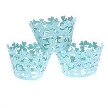 Бумажные обертки для кексов выпечки чашки Чехол коробки для кексов торт чашка Клевер Бумажные Формочки для кекса украшения инструменты кухня форма для приготовления печения