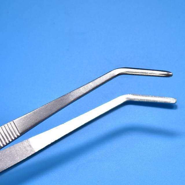 Pince à épiler médicale droite/coude en acier inoxydable FGHGF trousse de premiers soins accessoires pince à épiler chirurgicale coude extérieur droit