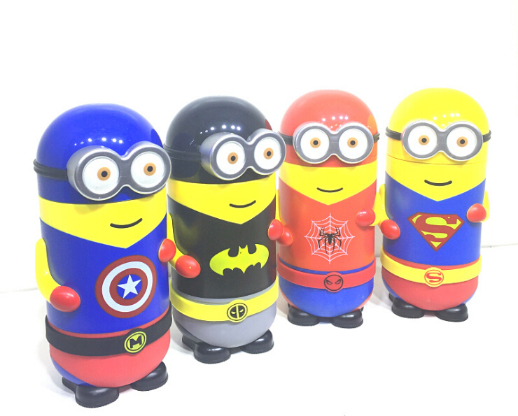 Minions Thermal Insulation water bottle Cartoon 304 Stainless Steel water bottle Children gift