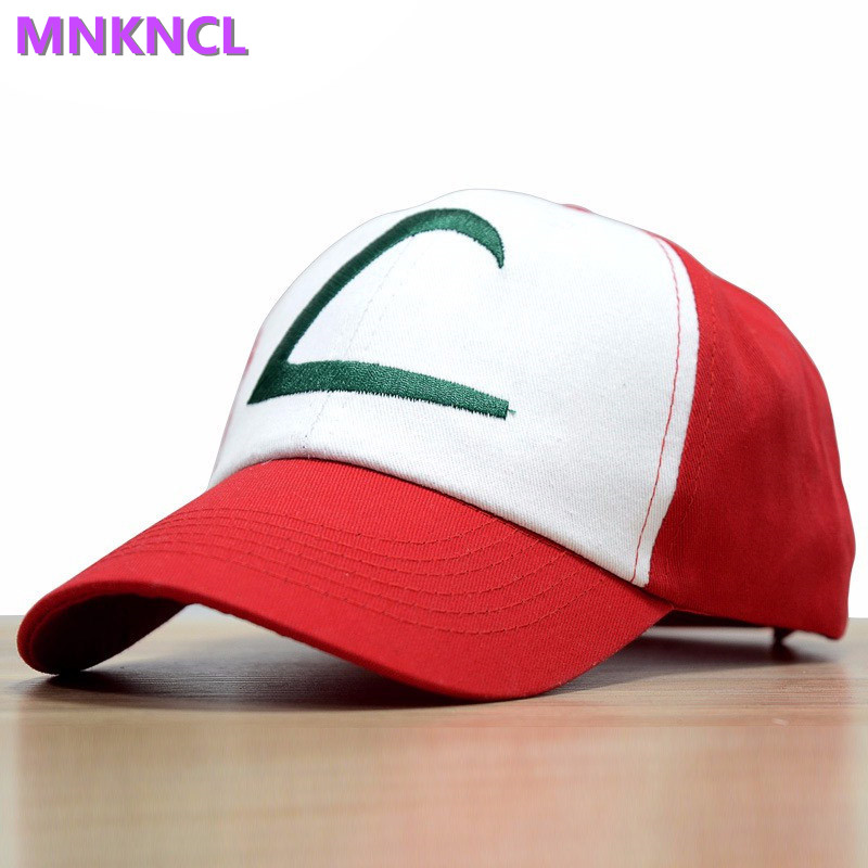 2017 Time-limited Sale Letter Adult Gorras Anime Cospaly Casquette Pokemon Hat Ash Ketchum Visor Caps Costume Play Baseball Cap стоимость