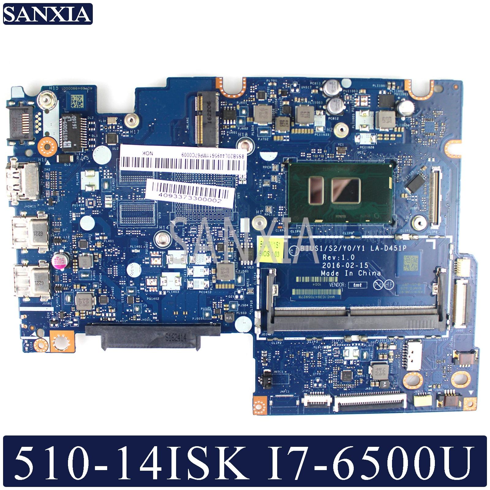 KEFU LA-D451P Laptop Motherboard For Lenovo YOGA 510-14ISK Flex4-1470 Original Mainboard I7-6500U