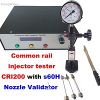 CRI200 Diesel High pressure common rail injector tester & S60H Nozzle Validator a whole set Common rail injector tester Kit