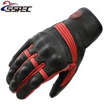2017 Motorcycle Gloves Men Goatskin Leather Glove Full Finger Luvas Retro motorcycle gloves Motorbike Bicycle Bike MotoGP Luvas