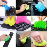 Newly 10Pcs Dust Cleaning Gel Magic Clean Gum Super Soft Sticky Cleaner for Keyboard Keypad Phone MK