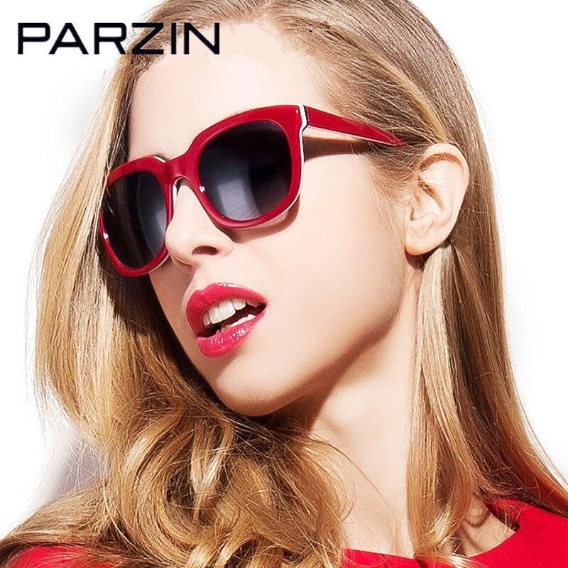 Parzin Moda Occhiali Da Sole Polarizzati Donne Oversize Handmade Femminile Occhiali Da Sole UV 400 Occhiali di Guida Shades Con Il Caso 9626