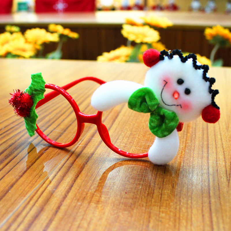 Christmas Decoration for Home Children Gift Festival Supply Glasses Christmas Tree Ornament Navid Xmas New Year Present P20