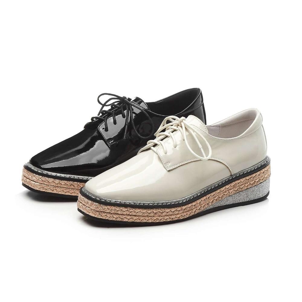 Namoro, casuais, botas de couro de moda de colarinho branco - 5