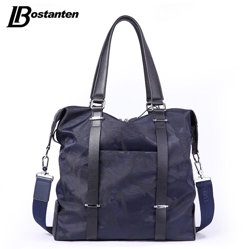 BOSTANTEN nowe płótno męskie torby crossbody wysokiej jakości kamuflaż mężczyźni torebka torba podróżna przyczynowe męskie torby na ramię Totes projektant w Torby z uchwytem od Bagaże i torby na  Grupa 3