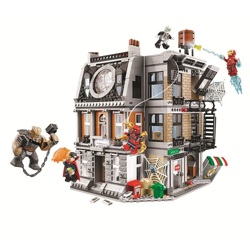Bela Compatible Legoe Marvel 76108 Sanctum Sanctorum Showdown Avengers Infinity War Super héros blocs de construction briques 2018