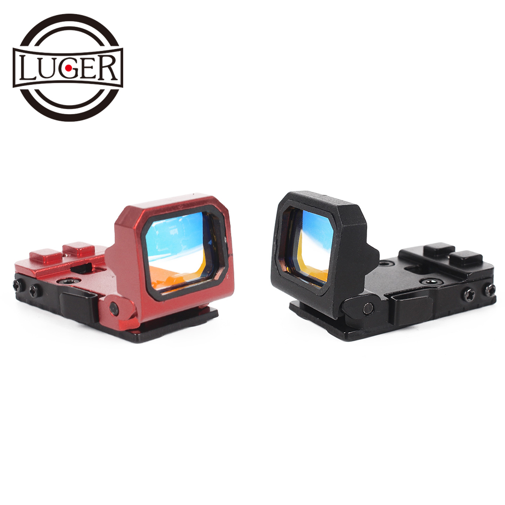 LUGER Red Dot Sight Hunting Scope Tactical 9 Levels Brightness Holographic Red Dot Sight Reflex Optics For Glock Mounts