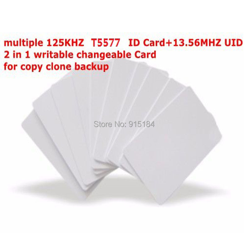 Dual Chip Frequency RFID 13.56Mhz 1K UID and T5577 125 kHz ...
