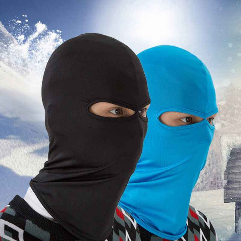Bycycle riding ski mask outdoor sports training mask double hole bicycle  windproof hood outdoor tactical riding hood