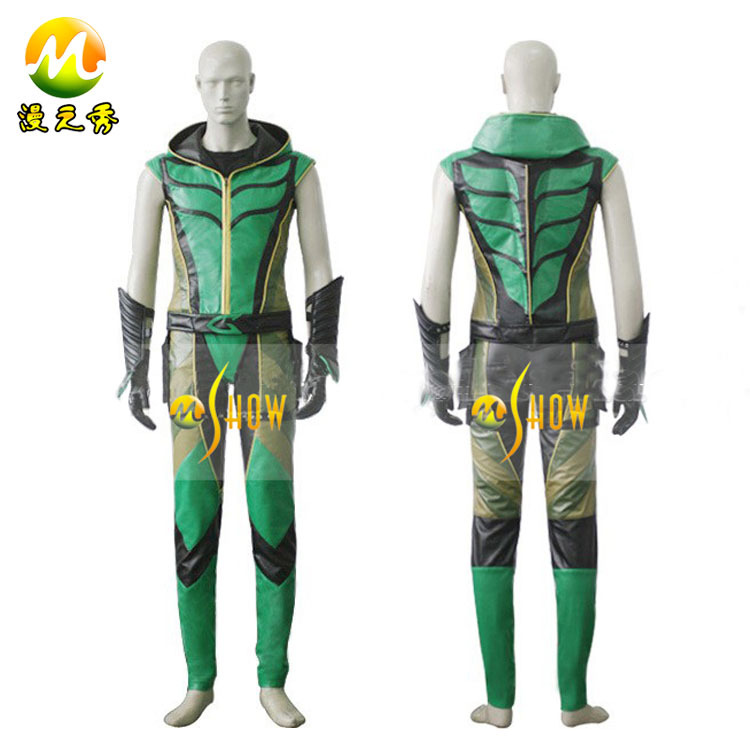 Hot Movie Smallville Superhero Green Arrow Cosplay Costume For Sale Halloween Party Costume For Men High Quality