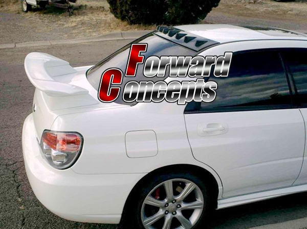 For 02-07 Subaru Impreza WRX STI OE Style Rear Window Roof Spoiler ABS Unpainted