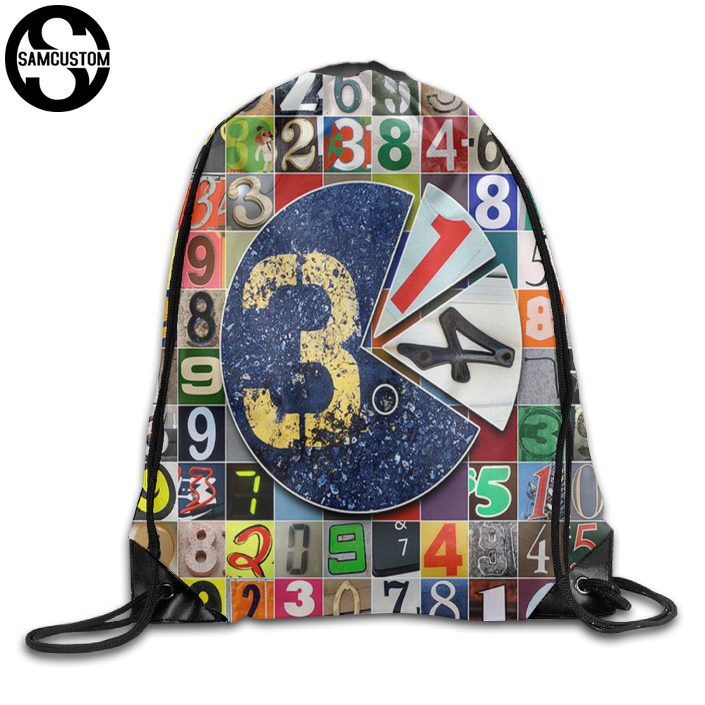 SAMCUSTOM pi day 3.14 3D Print Shoulders Bag Fabric Backpack men and women Port Drawstring Travel Shoes Dust Storage Bags kai yunon women sparrow drawstring beam port backpack shopping bag travel bag aug 24